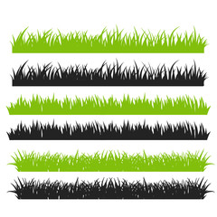 Grass Vector. Green grass arranged in beautiful rows For making a brush in the cartoon event.