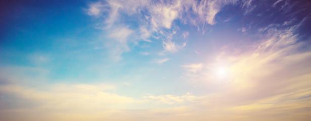 Foto auf Leinwand Blau Beautiful sky morning