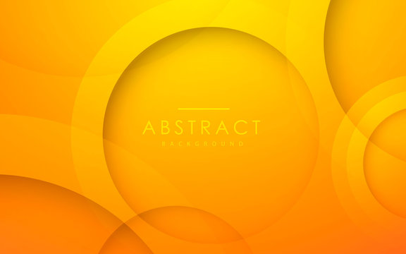 Abstract 3D circle layer orange background