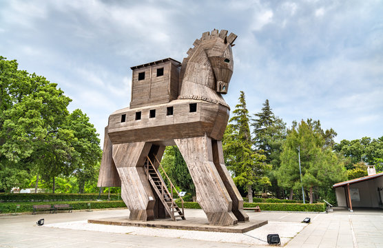 The Trojan Horse at the ancient city of Troy in Turkey