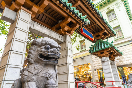 View of Chinatown Gate in San Francisco, California