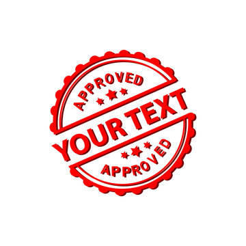 Approved Stamp with your text - VECTOR