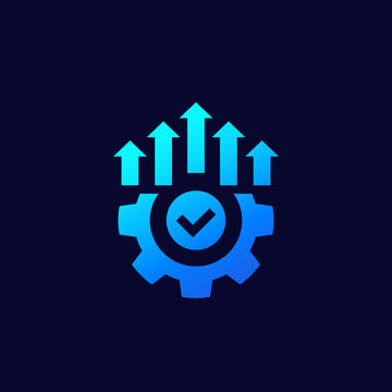 efficient production and efficiency icon, vector