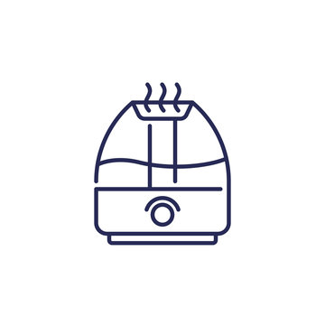 air humidifier icon, line vector
