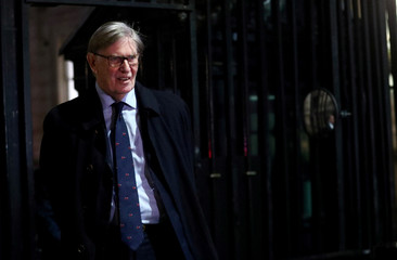 Britain's Conservative Party MP Bill Cash is seen outside Downing Street in London