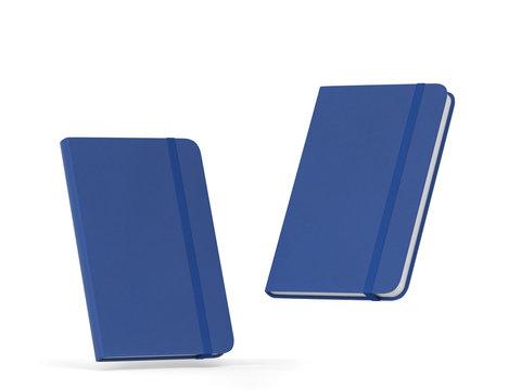 Blank notebook with elastic band closure mockup