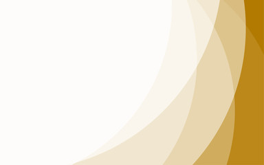 Abstract circular wavy golden white layout background