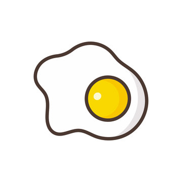 fried eggs vector icon isolated on white background