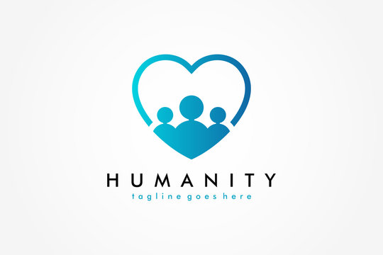 Social Humanity People Logo. Flat Vector Logo Design Template Element