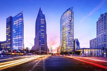 In de dag Berlijn potsdamer platz in berlin while sunset
