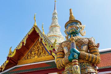 Aluminium Prints Bangkok Demon Guardian in Wat Phra Kaew (Temple of the Emerald Buddha), Grand Palace in Bangkok, Thailand.