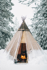 Teepee at winter