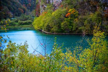Recess Fitting Gray traffic Plitvice Jezera Lakes park landscape