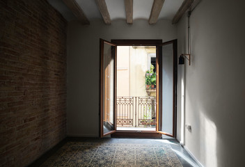 Apartment with tiled floor in Barcelona, Spain
