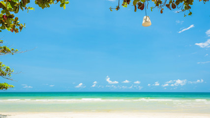 Wall Mural - Beautiful and Breathtaking tropical beach at Koh Chang Island in Thailand, Wonderful tropical beach for relaxation and travel, Special white sandy at the exotic beach