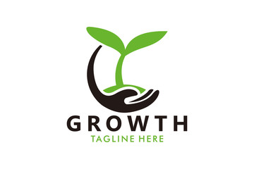 growth seed logo icon vector isolated