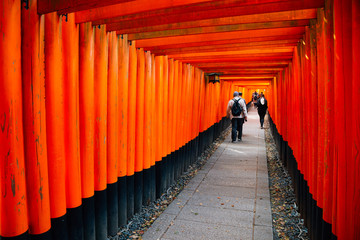 Fushimi Inari shrine Torii gates in Kyoto, Japan