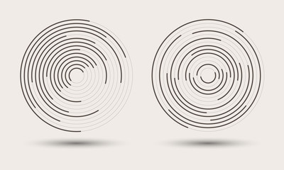 abstract round background. monochrome logo or icon Fotomurales