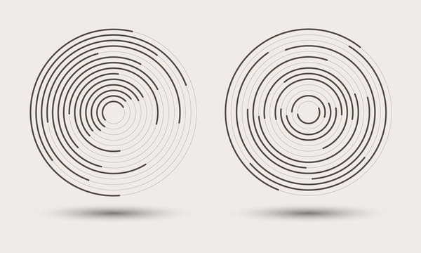 abstract round background. monochrome logo or icon