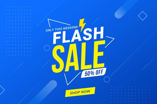 Flash sale discount banner template promotion design for business