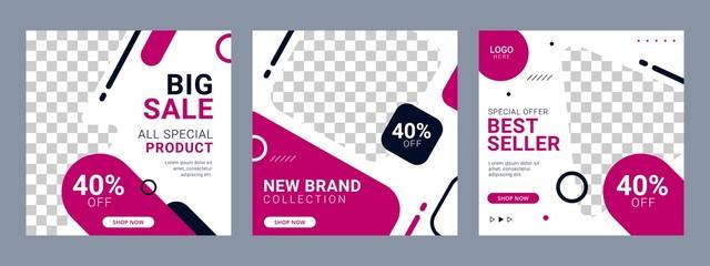 Fototapeta Editable Social Media Fashion Banner ad template promotion obraz