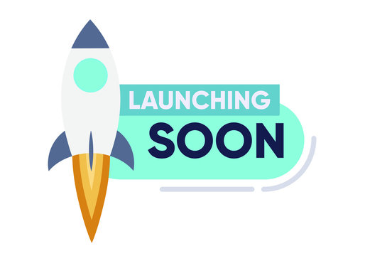 Launching Soon Page Design App Interface for Smart Phones. Vector Illustration