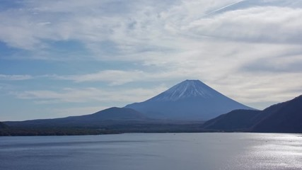 Fototapete - Mountain fuji with Motosuko Lake, Japan