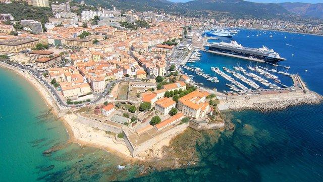 Ajaccio vue du ciel, Corse