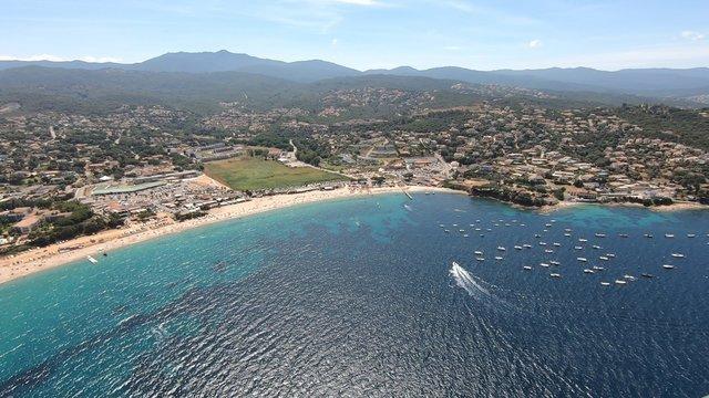 Porticcio vue du ciel, Corse