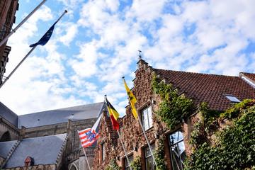Wall Murals Bridges Classic Architecture European Building Village Brugge