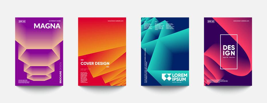 Futuristic cover templates design. Eps10 vector.