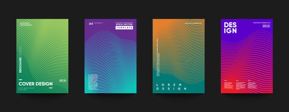 Futuristic cover templates design. Eps10 vector.