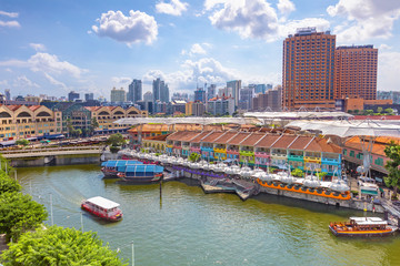 aerial view of Clarke Quay in singapore