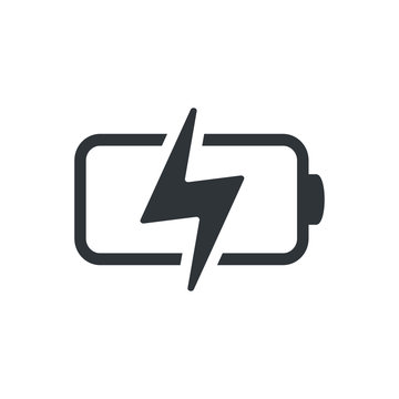 Battery charging UI icon vector