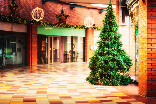 Christmas tree in shopping mall