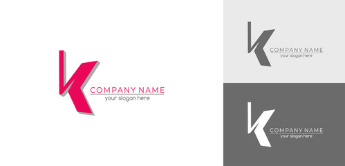 Letter K logo or monogram. blank for business card. For your business. Vector sign.