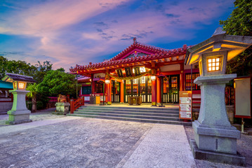Night view of Naminoue Shrine in okinawa