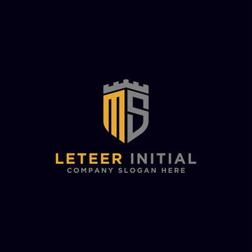 Inspiring logo designs for companies from the initial letters of the MS logo icon. -Vectors