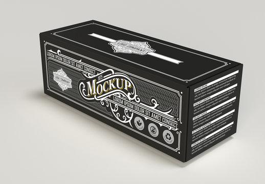 Colored Product Box Mockup