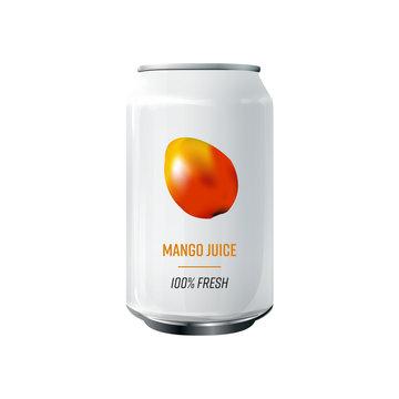 concept et pack de jus de fruit, mangue 100% fruit