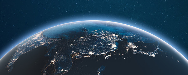 Fototapete - Earth from space