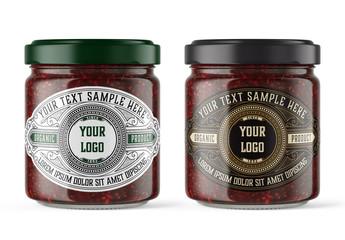 Jam Jar Packaging Label Mockup