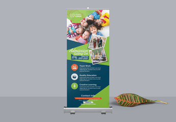 School Admission Roll-Up Banner Layout