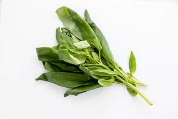 Deurstickers Lelietje van dalen A handful of natural and green basil for cooking