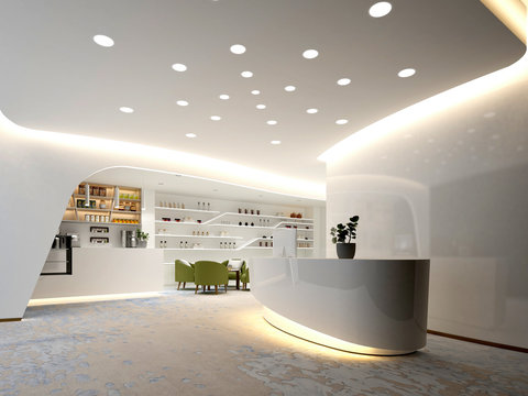 3d render luxury spa wellness center