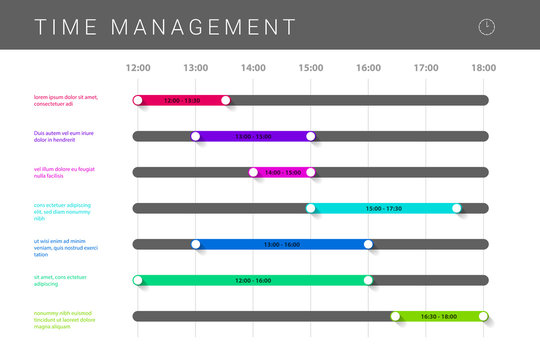 Time management concept. Infographic design template. Vector