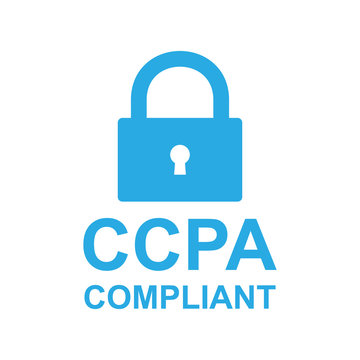 CCPA icon with lock. Vector eps10