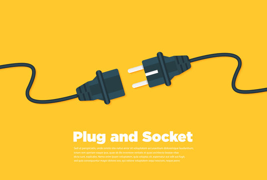 Get connected plug and socket flat icon
