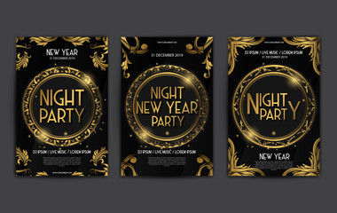 New Year Luxury Poster Template