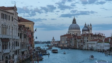 Wall Mural - Venice cityscape skyline with Grand Canal and boat in Venice, Italy